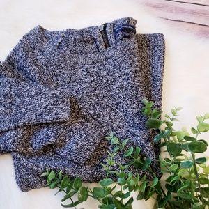 American eagle grey black knit sweater top